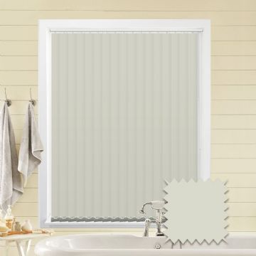 Made to Measure Vertical Blinds in PVC Blackout fabric in Grey